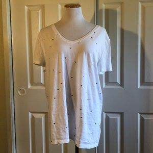 NWOT Gap Favorite tee with gold glitter hearts